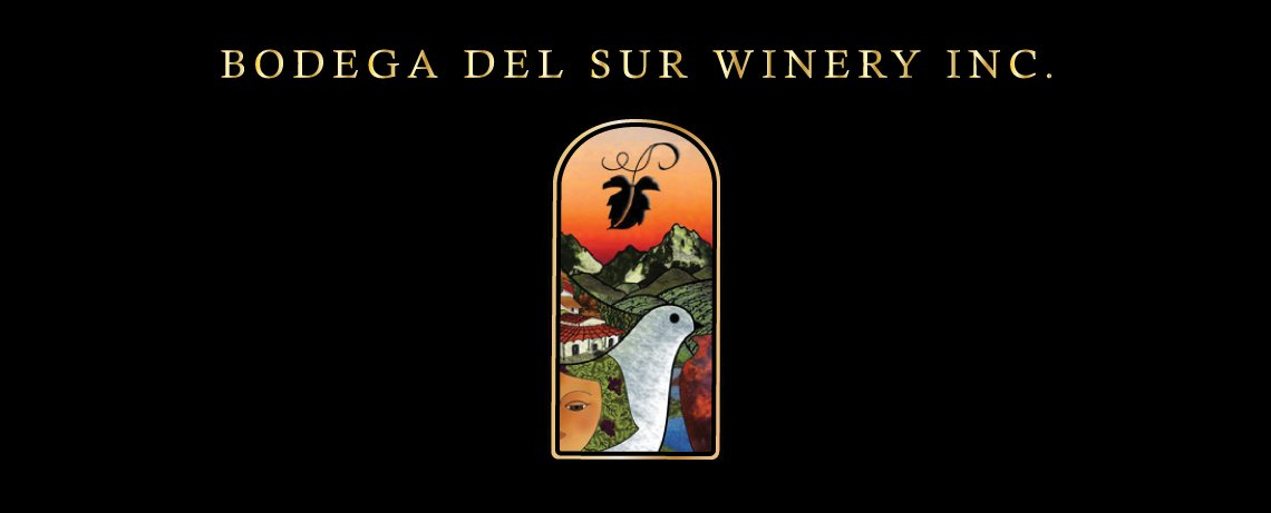 Bodega del Sur Winery, signature color wine label